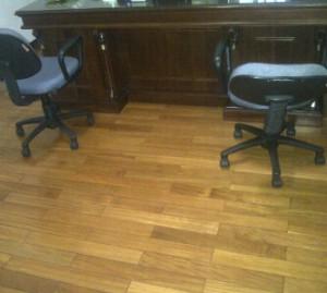 Flooring pakit terpasang